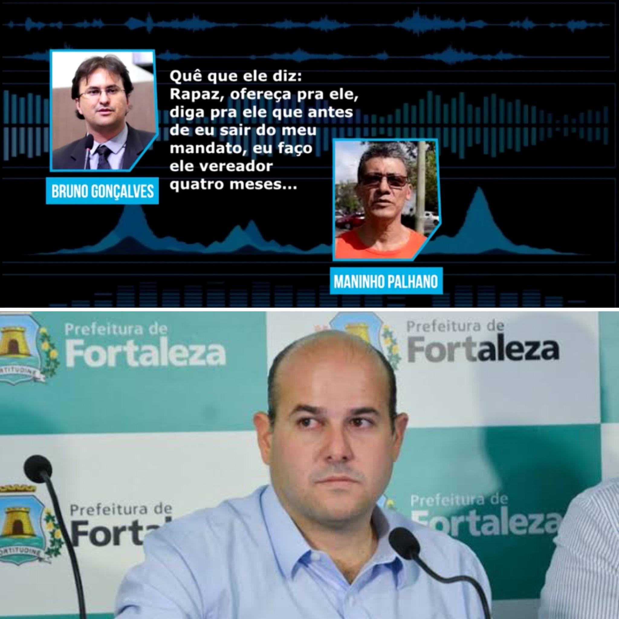 Em gravação, Dep. Bruno Gonçalves coloca Prefeito Roberto Cláudio como articulador de esquema de troca de favores usando a Prefeitura